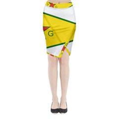 Flag Of The People s Protection Units Midi Wrap Pencil Skirt