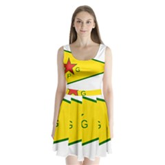 Flag Of The People s Protection Units Split Back Mini Dress