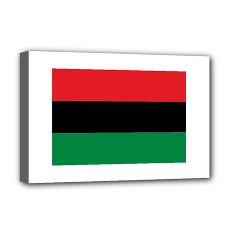 Pan African Flag  Deluxe Canvas 18  x 12