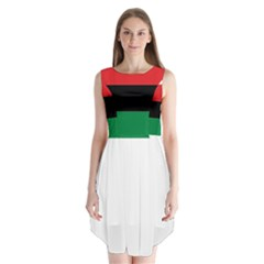 Pan African Flag  Sleeveless Chiffon Dress