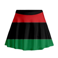 Pan African Flag  Mini Flare Skirt