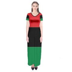 Pan African Flag  Short Sleeve Maxi Dress