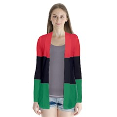 Pan African Flag  Drape Collar Cardigan