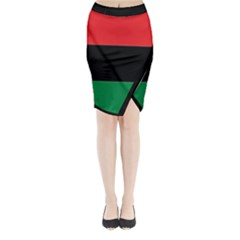 Pan African Flag  Midi Wrap Pencil Skirt
