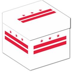 Flag Of Washington, Dc  Storage Stool 12