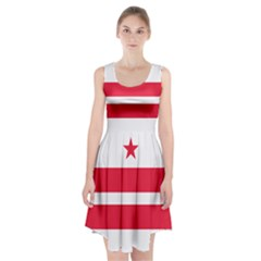 Flag Of Washington, Dc  Racerback Midi Dress