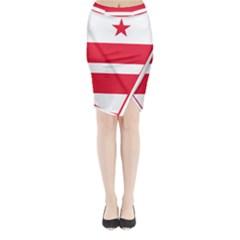 Flag Of Washington, Dc  Midi Wrap Pencil Skirt