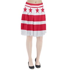 Flag Of Washington, Dc  Pleated Skirt