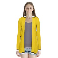 Jerusalem Cross Drape Collar Cardigan