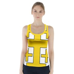 Jerusalem Cross Racer Back Sports Top