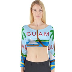 Seal Of Guam Long Sleeve Crop Top