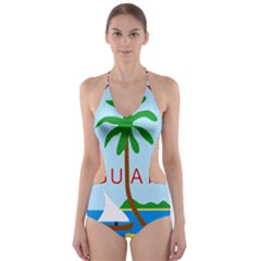 Seal Of Guam Cut-Out One Piece Swimsuit
