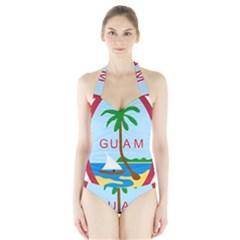 Seal Of Guam Halter Swimsuit