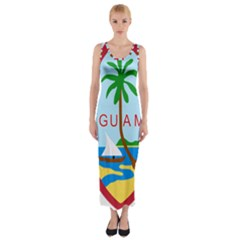 Seal Of Guam Fitted Maxi Dress