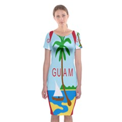 Seal Of Guam Classic Short Sleeve Midi Dress