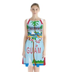 Seal Of Guam Sleeveless Waist Tie Dress