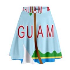 Seal Of Guam High Waist Skirt