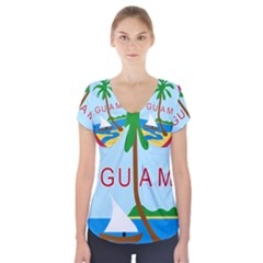 Seal Of Guam Short Sleeve Front Detail Top