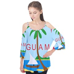 Seal Of Guam Flutter Tees