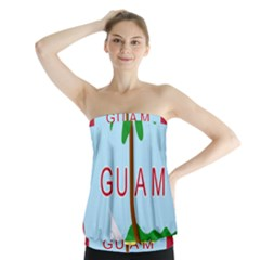 Seal Of Guam Strapless Top