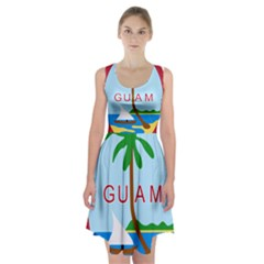 Seal Of Guam Racerback Midi Dress