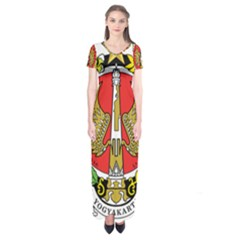 Seal Of Yogyakarta  Short Sleeve Maxi Dress