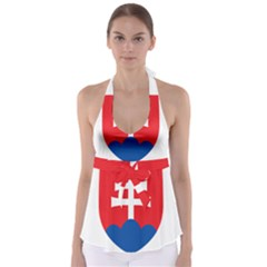 Slovak Air Force Roundel Babydoll Tankini Top