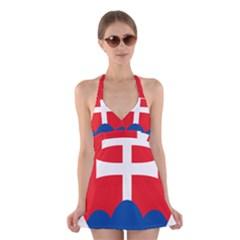 Slovak Air Force Roundel Halter Swimsuit Dress