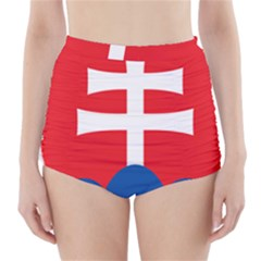 Slovak Air Force Roundel High Waisted Bikini Bottoms