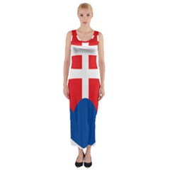 Slovak Air Force Roundel Fitted Maxi Dress
