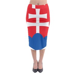 Slovak Air Force Roundel Midi Pencil Skirt