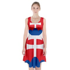 Slovak Air Force Roundel Racerback Midi Dress