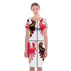 Coat Of Arms Of Trentino Alto Adige Sudtirol Region Of Italy Classic Short Sleeve Midi Dress