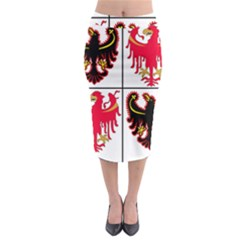 Coat Of Arms Of Trentino Alto Adige Sudtirol Region Of Italy Midi Pencil Skirt