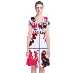 Coat of Arms of Trentino-Alto Adige Sudtirol Region of Italy Short Sleeve Front Wrap Dress