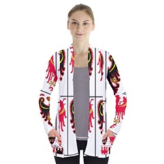 Coat Of Arms Of Trentino Alto Adige Sudtirol Region Of Italy Women s Open Front Pockets Cardigan(p194)