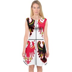 Coat Of Arms Of Trentino Alto Adige Sudtirol Region Of Italy Capsleeve Midi Dress