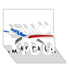 Logo of The French Air Force  Miss You 3D Greeting Card (7x5)