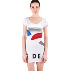 Logo of The French Air Force  Short Sleeve Bodycon Dress