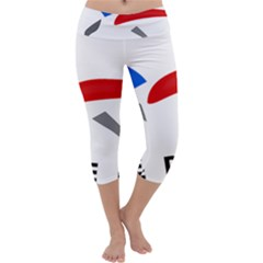 Logo of The French Air Force  Capri Yoga Leggings