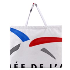 Logo Of The French Air Force  Zipper Large Tote Bag