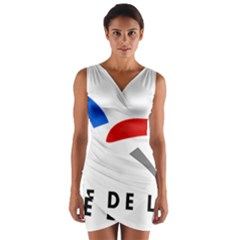 Logo of The French Air Force  Wrap Front Bodycon Dress
