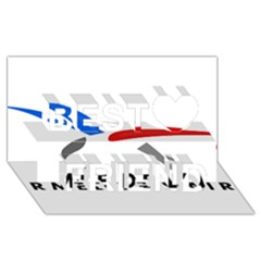 Logo Of The French Air Force (armee De L air) Best Friends 3D Greeting Card (8x4)