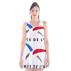 Logo Of The French Air Force (armee De L air) Scoop Neck Skater Dress