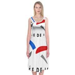 Logo Of The French Air Force (armee De L air) Midi Sleeveless Dress