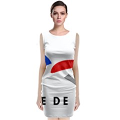 Logo Of The French Air Force (armee De L air) Classic Sleeveless Midi Dress