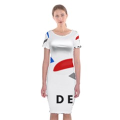 Logo Of The French Air Force (armee De L air) Classic Short Sleeve Midi Dress