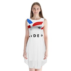 Logo Of The French Air Force (armee De L air) Sleeveless Chiffon Dress
