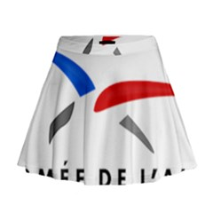Logo Of The French Air Force (armee De L air) Mini Flare Skirt