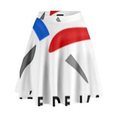 Logo Of The French Air Force (armee De L air) High Waist Skirt